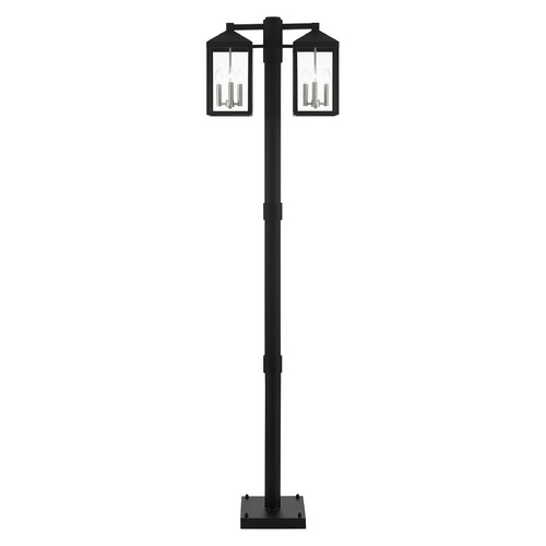 Livex Lighting Livex Lighting Post Light in Black with Brushed Nickel 20599-04