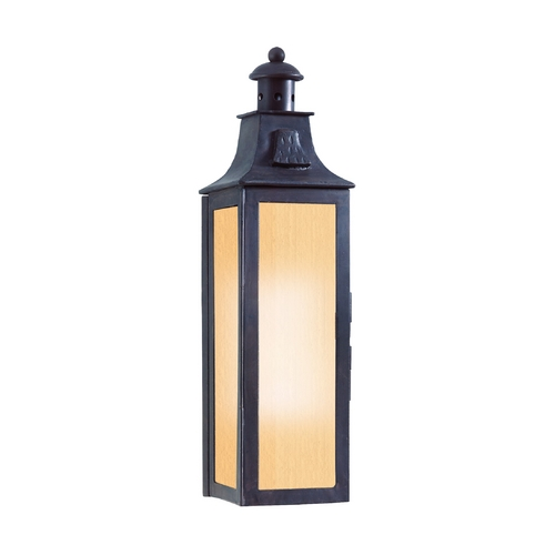 Troy Lighting Outdoor Wall Light with Amber Glass in Old Bronze Finish BF9007OBZ