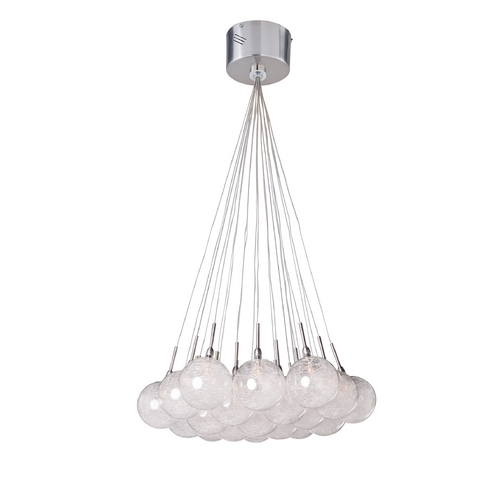 ET2 Lighting Modern Low Voltage Multi-Light Pendant Light with Clear Glass and 19-Lights E20113-79