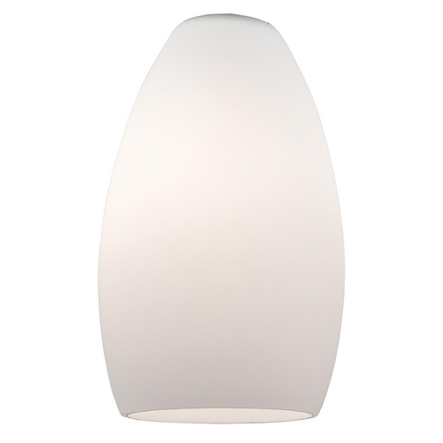 Access Lighting Opal White Bowl / Dome Glass Shade with 1-5/8-Inch Fitter Opening 23112-OPL