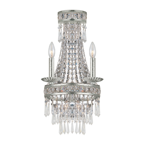 Crystorama Lighting Crystal Sconce Wall Light in Olde Silver Finish 5262-OS-CL-MWP