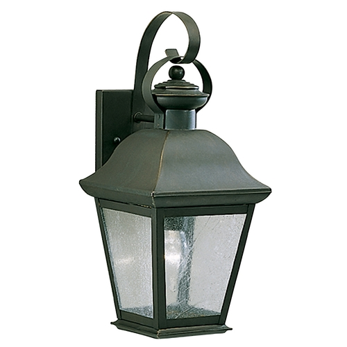 Kichler Lighting Kichler 16-1/2-Inch Outdoor Wall Light with Clear Seeded Glass 9708OZ