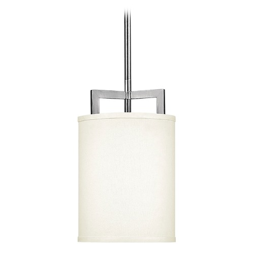 Hinkley Lighting Modern Mini-Pendant Light with White Shade 3207AN