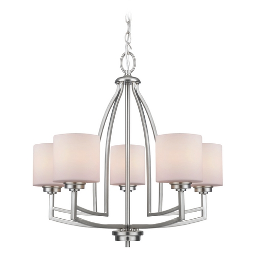 Lite Source Lighting Lite Source Lighting Winston Polished Steel Chandelier LS-19785PS