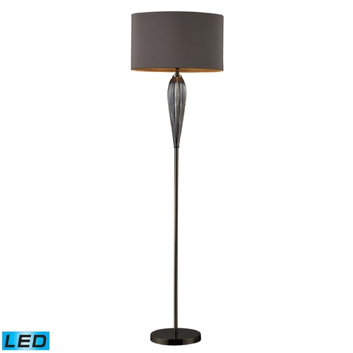 Dimond Lighting Dimond Lighting Steel Smoked, Black Nickel LED Floor Lamp with Oval Shade D1598-LED