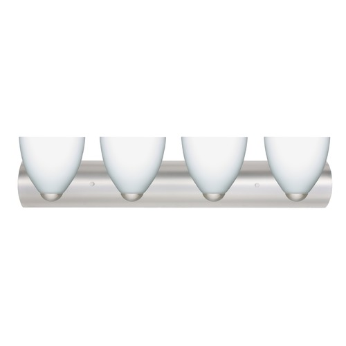 Besa Lighting Besa Lighting Sasha Satin Nickel LED Bathroom Light 4WZ-757207-LED-SN