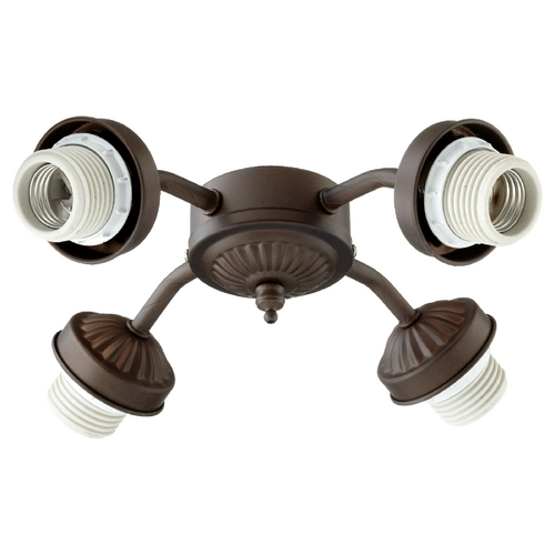 Quorum Lighting Quorum Lighting Oiled Bronze Fan Light Kit 2444-8086