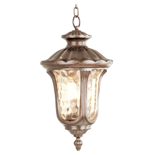 Livex Lighting Livex Lighting Oxford Moroccan Gold Outdoor Hanging Light 7658-50