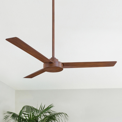 Minka Aire 52-Inch Minka Aire Fans Roto Distressed Koa Ceiling Fan Without Light F524-DK