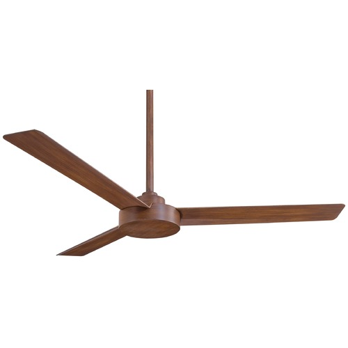 Minka Aire Minka Aire Fans Roto Distressed Koa Ceiling Fan Without Light F524-DK