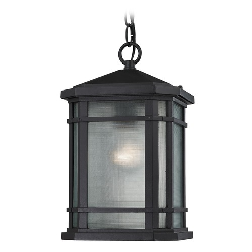 Elk Lighting Elk Lighting Lowell Matte Black Outdoor Hanging Light 87043/1