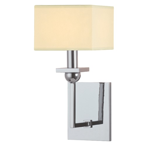 Hudson Valley Lighting Morris 1 Light Sconce Square Shade - Polished Chrome 5211-PC