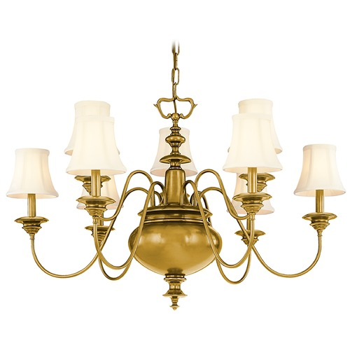 Hudson Valley Lighting Hudson Valley Lighting Yorktown Aged Brass Chandelier 8719-AGB