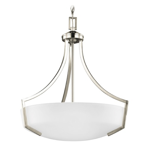 Sea Gull Lighting Sea Gull Hanford Brushed Nickel Pendant Light 6624503-962