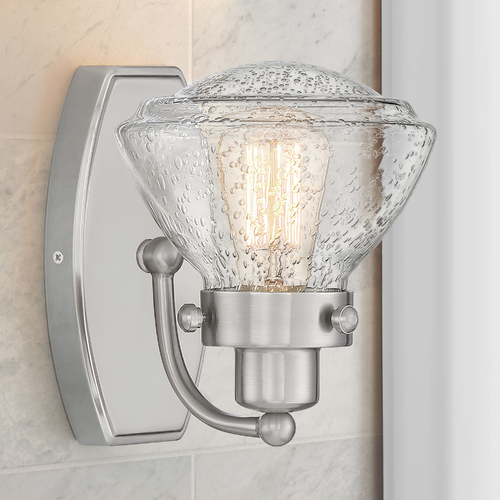 Quoizel Lighting Quoizel Lighting Scholar Brushed Nickel Sconce with Clear Glass SCH8601BN