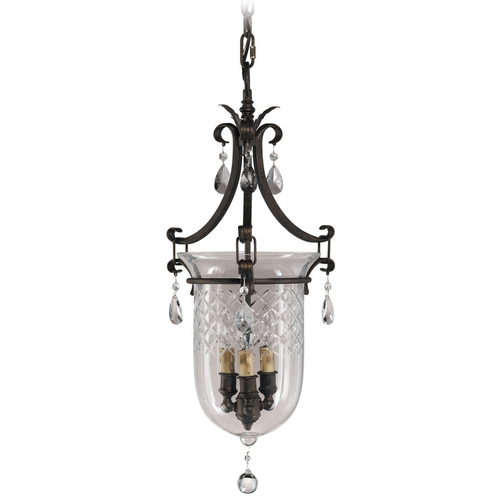 Feiss Lighting Pendant Light with White Glass in Aged Tortoise Shell Finish F2227/3ATS