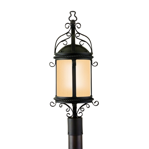 Troy Lighting Post Light with Clear Glass in Old Bronze Finish PF9123OBZ