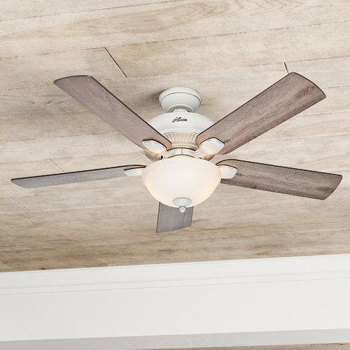 Hunter Fan Company Hunter Fan Company Matheston Cottage White Ceiling Fan with Light 54091