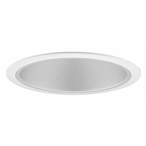 Recesso Lighting by Dolan Designs 6-Inch Reflective Satin Recessed Trim T600S-WH