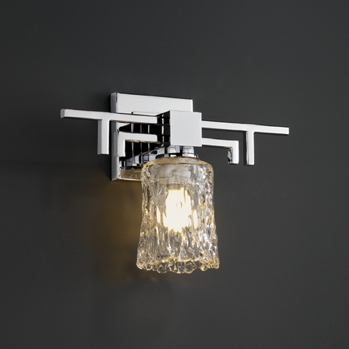 Justice Design Group Justice Design Group Veneto Luce Collection Sconce GLA-8701-16-CLRT-CROM