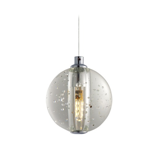 ET2 Lighting Harmony Polished Chrome LED Mini-Pendant Light with Globe Shade E24500-91PC