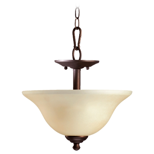 Quorum Lighting Quorum Lighting Spencer Old World Pendant Light with Bowl / Dome Shade 2810-13-95