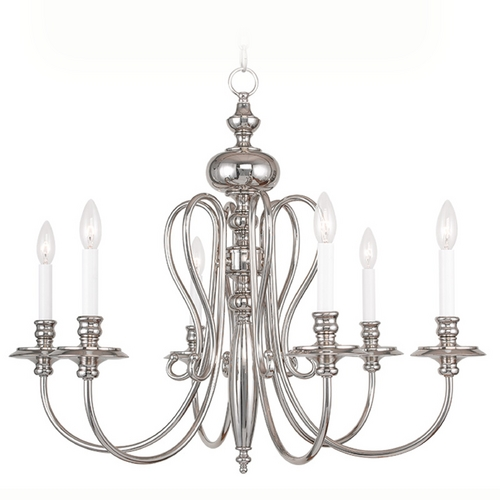 Livex Lighting Livex Lighting Caldwell Polished Nickel Chandelier 5166-35