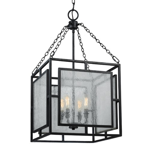 Feiss Lighting Feiss Lighting Prairielands Dark Weathered Zinc Pendant Light F3036/4DWZ