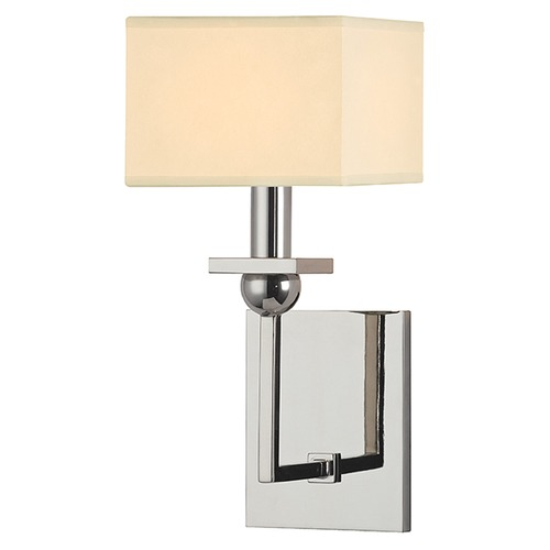Hudson Valley Lighting Morris 1 Light Sconce Square Shade - Polished Nickel 5211-PN
