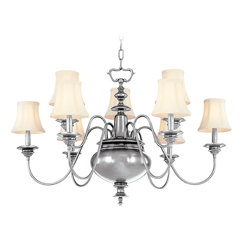 Hudson Valley Lighting Hudson Valley Yorktown 2-Tier 9-Light Chandelier in Polished Nickel 8719-PN