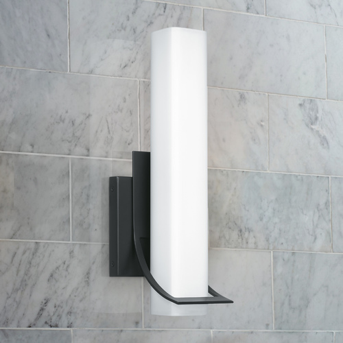 Quoizel Lighting Quoizel Lighting Blade Small Earth Black Integrated LED Bathroom Light 3000K PCBD8705EK