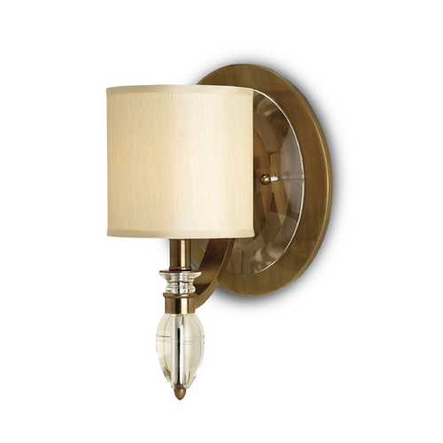 Currey and Company Lighting Sconce Wall Light with Beige / Cream Shade in Coffee Bronze Finish 5082