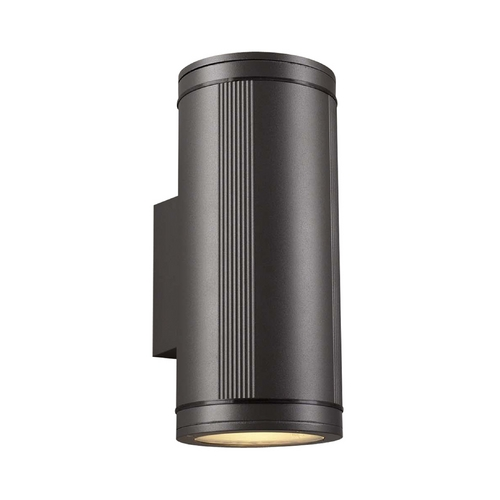 PLC Lighting Modern Outdoor Wall Light with Clear Glass in Bronze Finish 1884 BZ