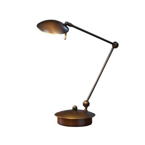 Holtkoetter Lighting Adjustable Low Voltage Desk Lamp 6238/1 HB/OB