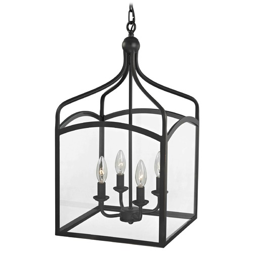 Design Classics Lighting Preston Large Square Lantern Pendant Entryway Light 874-78