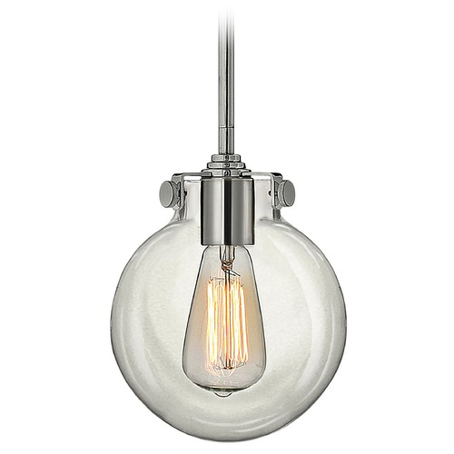 Hinkley Lighting Mini-Pendant Light with Clear Glass 3128CM
