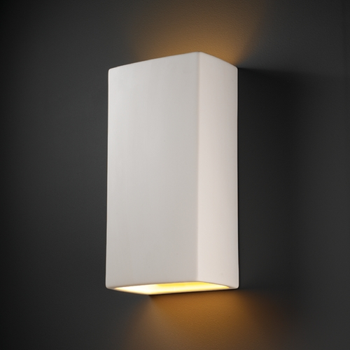 Justice Design Group Sconce Wall Light in Bisque Finish CER-1175-BIS