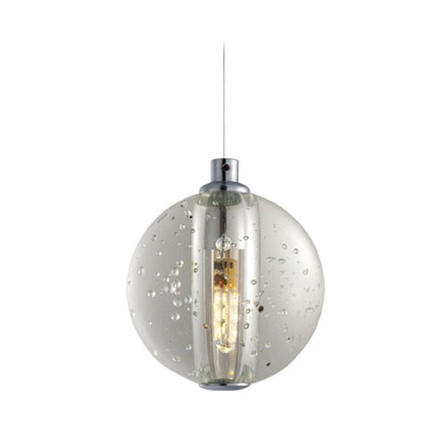 ET2 Lighting Harmony Polished Chrome LED Mini-Pendant Light with Globe Shade E24501-91PC