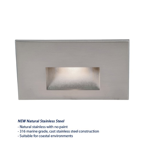 WAC Lighting WAC Lighting Ledme Stainless Steel LED Recessed Step Light with Blue LED WL-LED100F-BL-SS
