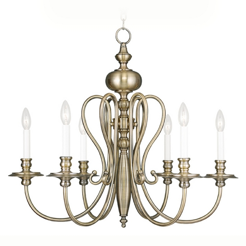 Livex Lighting Livex Lighting Caldwell Antique Brass Chandelier 5166-01