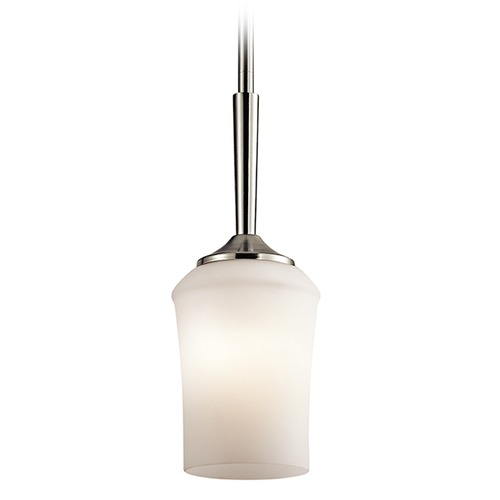 Kichler Lighting Kichler Lighting Aubrey Mini-Pendant Light with Bowl / Dome Shade 43668NI
