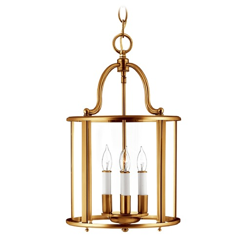 Hinkley Lighting Hinkley Lighting Gentry Heirloom Brass Pendant Light with Conical Shade 3474HR