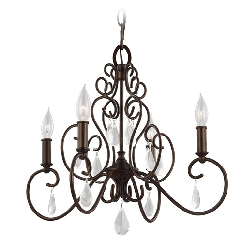 Feiss Lighting Feiss Lighting Angelette Bonnieaux Bronze Mini-Chandelier F3041/4BNB