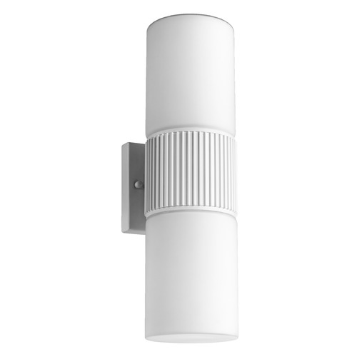Quorum Lighting Quorum Lighting Manhattan Studio White Outdoor Wall Light 756-2-8