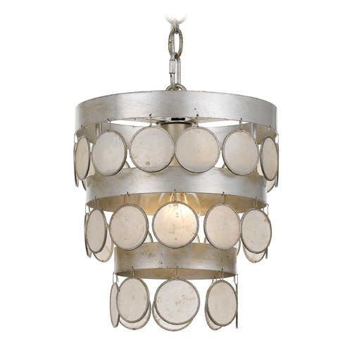 Crystorama Lighting Crystorama Lighting Coco Antique Silver Mini-Pendant Light 6003-SA