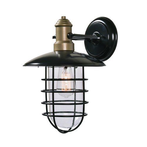 Kenroy Home Lighting Mid-Century Modern Outdoor Wall Light Bronze and Gold Outlook by Kenroy Home 93712BRZ