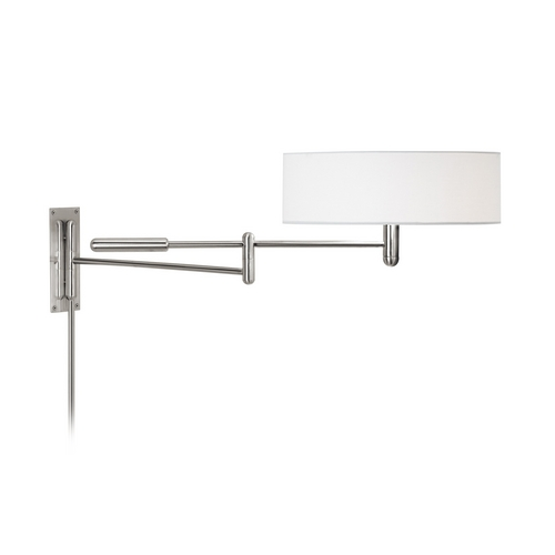 Sonneman Lighting Modern Pin-Up Lamp with White Shade in Polished Nickel Finish 7002.35