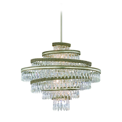 Corbett Lighting Corbett Lighting Diva Silver Leaf W/gold L Island Light 132-45