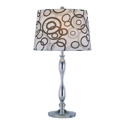 Lite Source Lighting Lite Source Lighting Cirkel Chrome Table Lamp with Cylindrical Shade LS-21591
