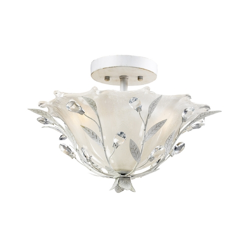 Elk Lighting Semi-Flushmount Light in Antique White Finish 18111/2